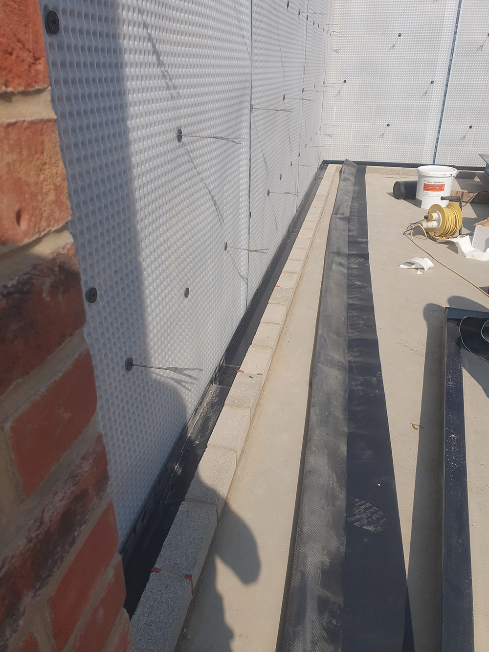 Combined Waterproofing System for New Build Garage