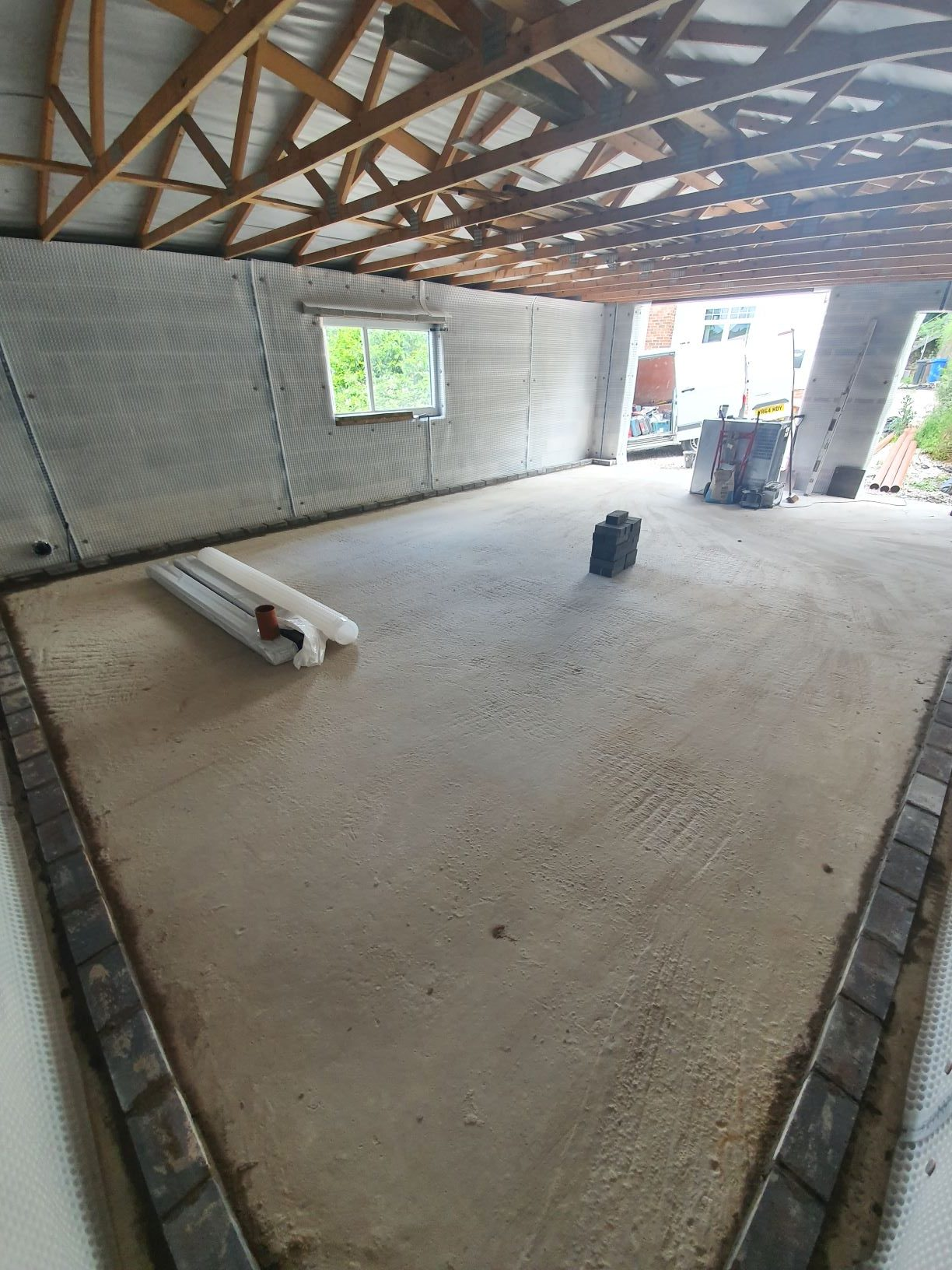 Basement garage converted to habitable space
